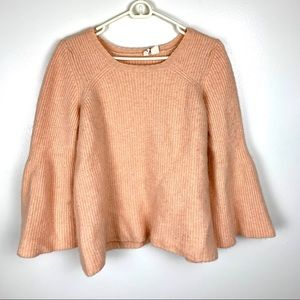 Anthropologie MOTH Peach color Cashmere Sweater